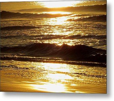 Sunrise Waves Metal Print by Nikki McInnes
