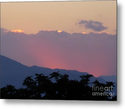 Metal Print featuring the photograph Sunset 2 by Ze  Di