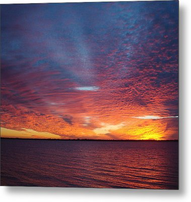 Sunset At Cafe Coconut Cove 5 Metal Print