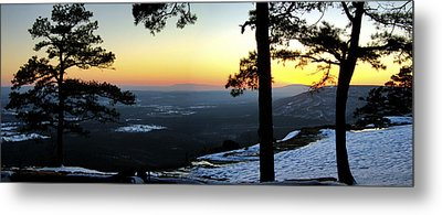 Sunset Atop Snowy Mt. Nebo Metal Print by Jason Politte