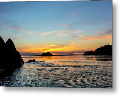 Sunset From North Beach With Deception Metal Print