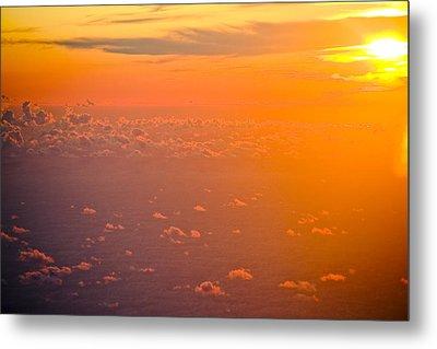 Sunset In The Sky Metal Print by Raimond Klavins