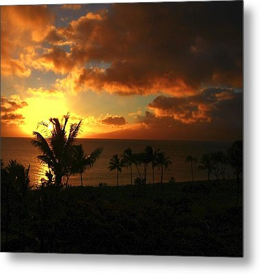 Sunset On Maui Metal Print