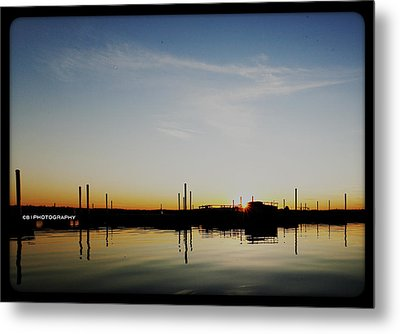 Sunset Over The Marina. Metal Print