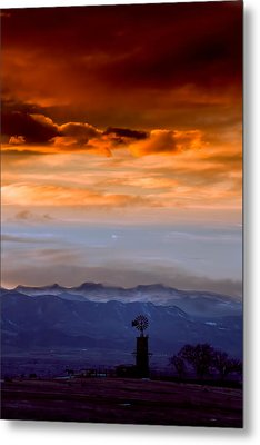 Metal Print featuring the photograph Sunset Over The Rockies by Kristal Kraft