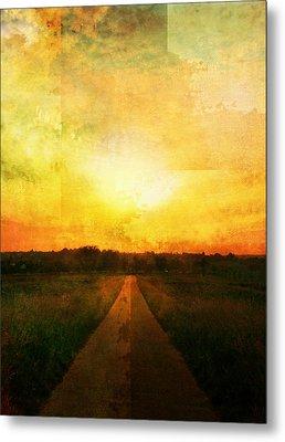 Sunset Road Metal Print by Brett Pfister