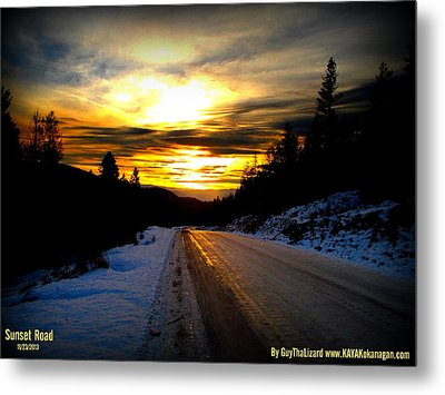 Metal Print featuring the photograph Sunset Road by Guy Hoffman