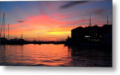 Sunset Rovinj Metal Print by Barbara Walsh
