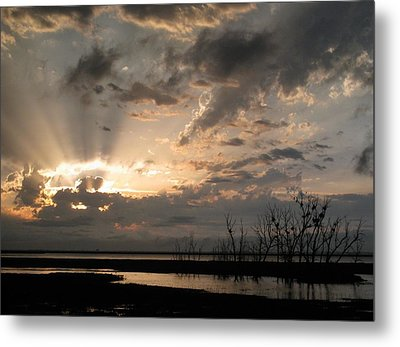 Sunset  Metal Print by Sandy Ramsey