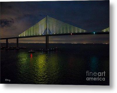 Sunshine Skyway Bridge Tampa Florida Metal Print by Rene Triay Photography