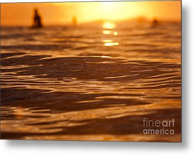 Metal Print featuring the photograph Surfers Sunset by Paul Topp