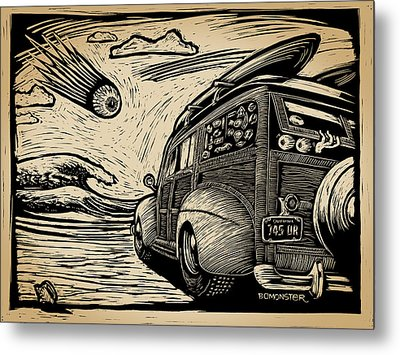 Surf's Up Metal Print by Bomonster
