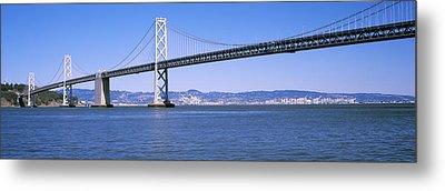Suspension Bridge Across The Bay, Bay Metal Print