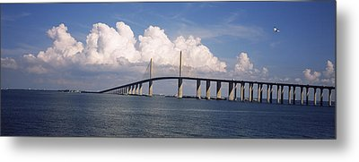 Suspension Bridge Across The Bay Metal Print by Panoramic Images