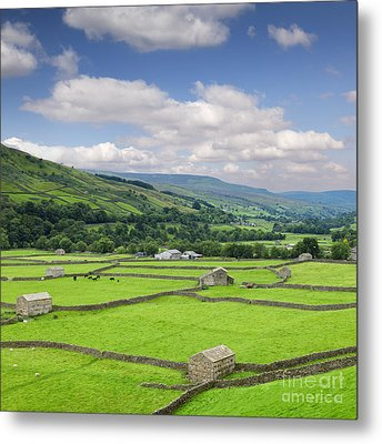 Swaledale Yorkshire Dales England Metal Print by Colin and Linda McKie
