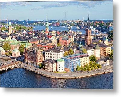 Sweden, Stockholm - The Old Town Metal Print