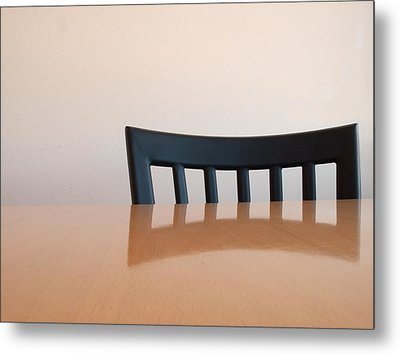 Table And Chair Metal Print by Don Spenner