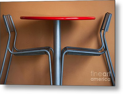 Table And Chairs Metal Print by Dan Holm