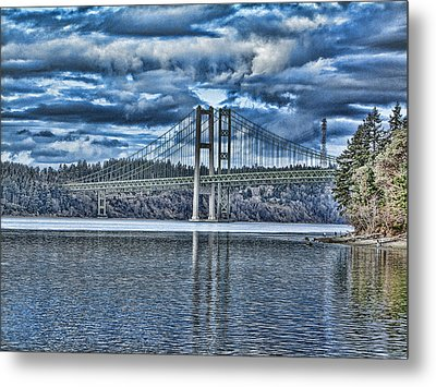 Tacoma Narrows Bridge Metal Print