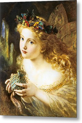 Take The Fair Face Of Woman Metal Print by Sophie Anderson