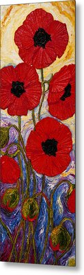 Tall Red Poppies Metal Print by Paris Wyatt Llanso
