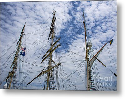 Metal Print featuring the photograph Tall Ship Mast by Dale Powell