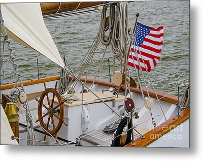 Metal Print featuring the photograph Tall Ships by Dale Powell