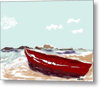 Tattered Old Boat Metal Print