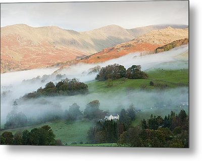 Temperature Inversion Over Ambleside Metal Print