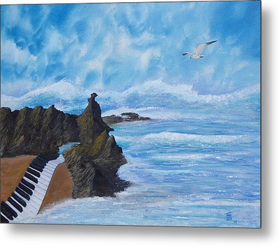 Tempest For Piano In C Metal Print by Tony Rodriguez