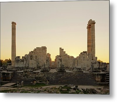 Temple Of Apollo Metal Print by David Parker