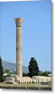 Temple Of Olympian Zeus In Athens Metal Print