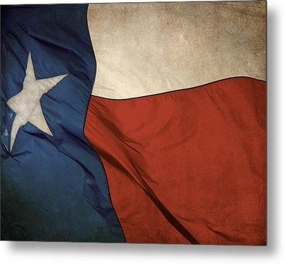 Rustic Texas Flag  Metal Print by David and Carol Kelly