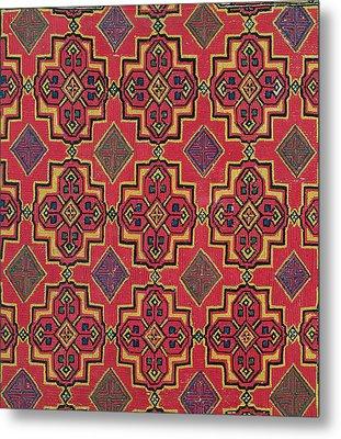 Textile With Geometric Pattern Metal Print