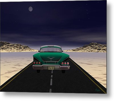 Metal Print featuring the digital art The 58 On 66 by John Pangia