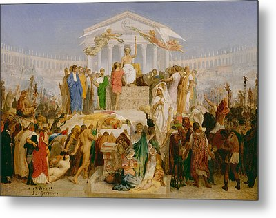 The Age Of Augustus The Birth Of Christ Metal Print by Jean Leon Gerome