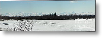 The Alaska Range Metal Print by Jennifer Kimberly