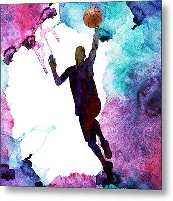 The Basket Player  Metal Print