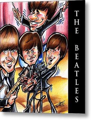 The Beatles Metal Print by Big Mike Roate