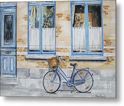 The Blue Bicycle Metal Print by William Reed