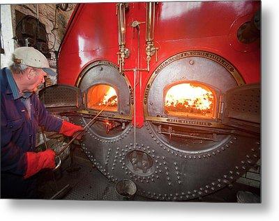The Boiler At Queens Mill In Burnley Metal Print
