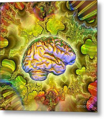 The Brain Metal Print