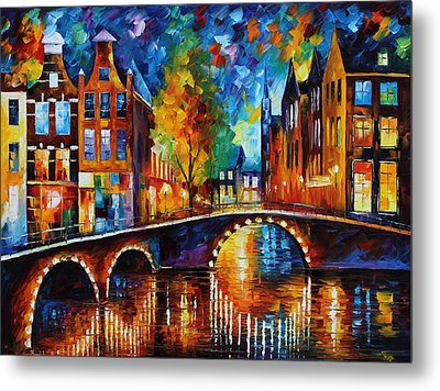The Bridges Of Amsterdam Metal Print