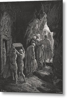 The Burial Of Sarah Metal Print by Gustave Dore
