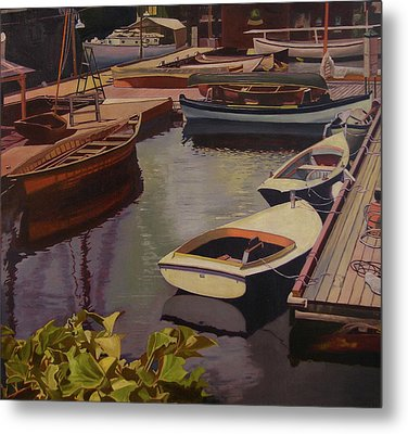 The Canvas Boat Metal Print by Thu Nguyen