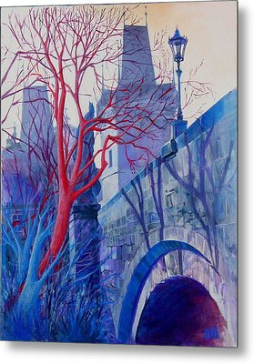 The Charles Bridge Blues Metal Print