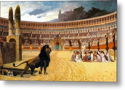 The Christian Martyrs' Last Prayer Metal Print by Jean Leon Gerome
