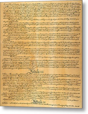The Constitution, 1787 Metal Print by Granger