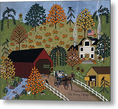The Country Carriage Ride Metal Print by Medana Gabbard