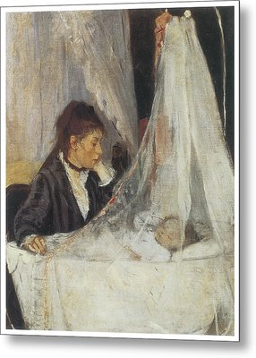 The Cradle Metal Print by Berthe Morisot